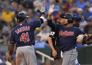 Mike Aviles. Carlos Santana