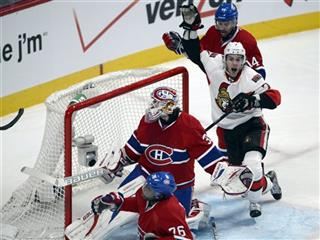 Kyle Turris, Peter Budaj, Tomas Plekanec, P.K. Subban