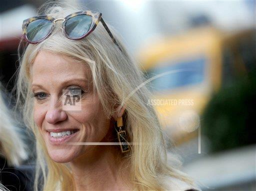 STRMX Dennis Van Tine/STAR MAX/IPx A ENT New York USA IPX Kellyanne Conway is seen in New York City outside Trump Towers