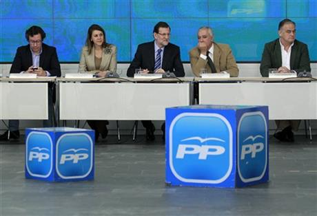 Mariano Rajoy, Dolores Cospedal, Javier Arenas Bocanegra