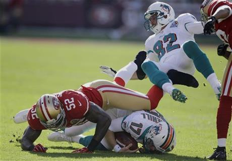 Ryan Tannehill, Patrick Willis, Brian Hartline