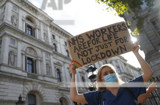 Britain Pay Protest