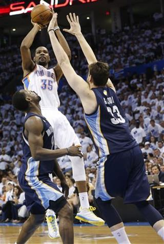 Tony Allen, Kevin Durant, Marc Gasol