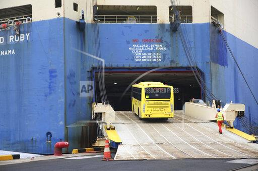 CHINA SHANDONG QINGDAO SCHOOL BUS EXPORTED TO SAUDI ARABIA