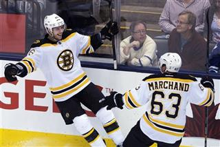 David Krejci; James Reimer; Brand Marchand