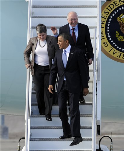 Barack Obama, Janet Napolitano, Ken Salazar