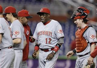 Dusty Baker, Homer Bailey, Ryan Hanigan