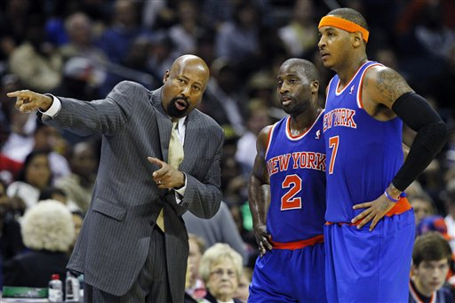 Mike Woodson, Raymond Felton, Carmelo Anthony