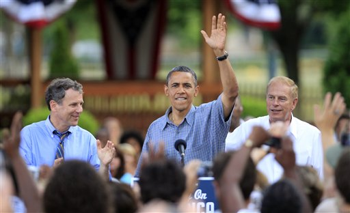 Barack Obama, Ted Strickland, Sherrod Brown