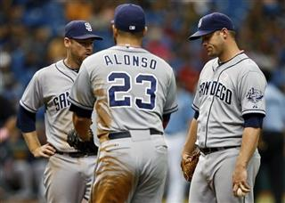 Chase Headley, Yonder Alonso, Eric Stults