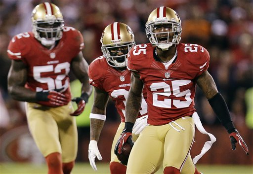 Tarell Brown, Donte Whitner, Patrick Willis