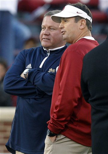 Brian Kelly, Bob Stoops