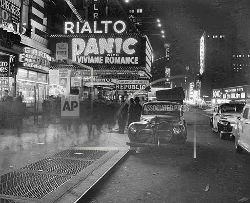 Watchf Associated Press   New York United States APHS57256 Rialto Theater 1947