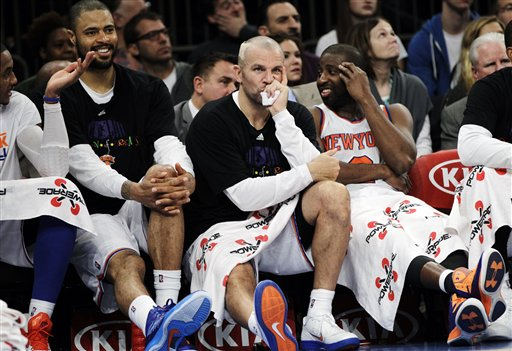 Carmelo Anthony, Tyson Chandler, Jason Kidd, Raymond Felton