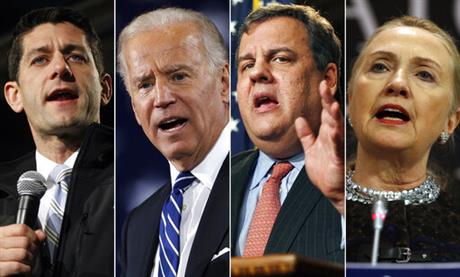 Paul Ryan, Joe Biden, Chris Christie, Hillary Clinton
