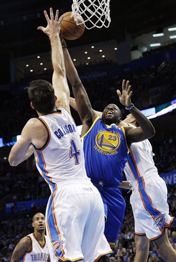 Draymond Green, Nick Collison, Kevin Martin