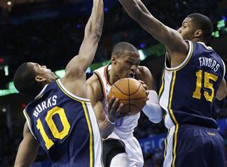 Russell Westbrook, Alec burks, Derrick Favors