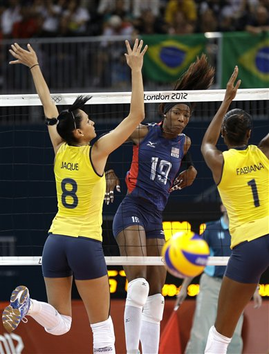 Fabiana Claudino, Jaqueline Carvalho, Destinee Hooker