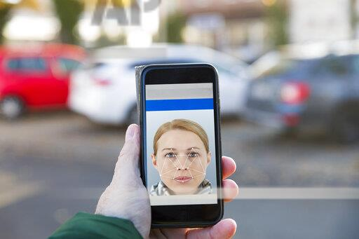 Smartphone with facial recognition