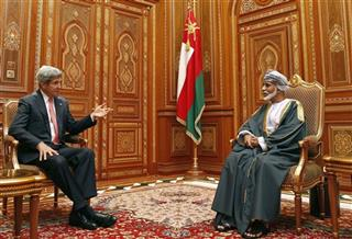 John Kerry, Qaboos bin Said at Bait Al Baraka