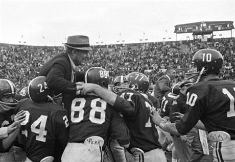 Bear Bryant, Paul Bryant, John Mosley, Ray Perkins, Jerry Duncan, Wayne Trimble.