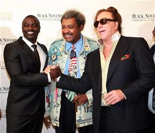 Akon Don King Mickey Rourke