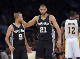 Tim Duncan, Tony Parker, Dwight Howard
