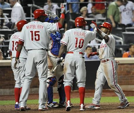 Jimmy Rollins, Freddy Galvis, John Mayberry Jr., Juan Pierre
