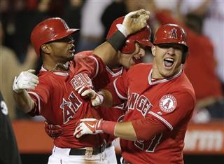 Mike Trout, Luis Jimenez, Josh Hamilton