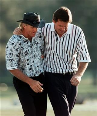 Nick Faldo, Greg Norman