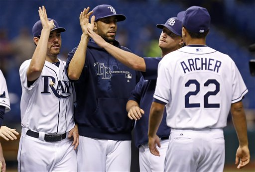 Matt Moore, David Price,\ Alex Cobb, Chris Archer