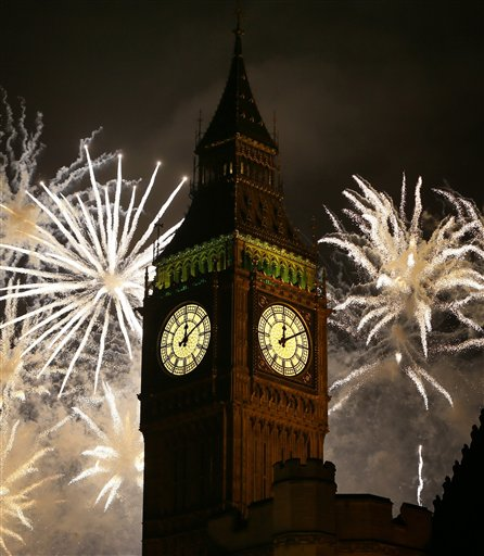 Britain New Years Celebrations