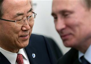 Vladimir Putin, Ban Ki-moon