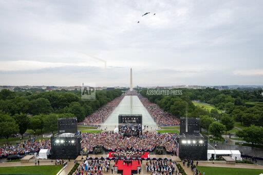 President Donald J. Trump At Salute To America Event