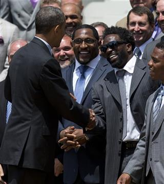 Barack Obama, Ray Lewis, Ed Reed