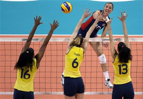 Jordan Larson, Fernanda Rodrigues, Thaisa Menezes, Sheilla Castro
