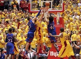 Jeff Withey, Georges Niang, Kevin Young