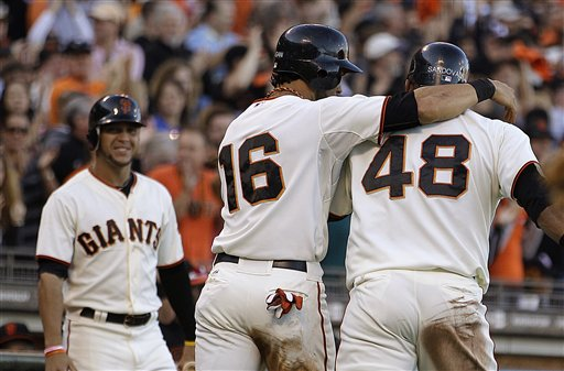 Gregor Blanco, Pablo Sandoval, Angel Pagan