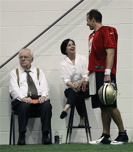 Drew Brees, Gayle Benson, Tom Benson