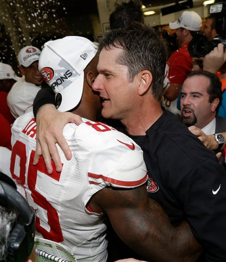 Jim Harbaugh, Vernon Davis