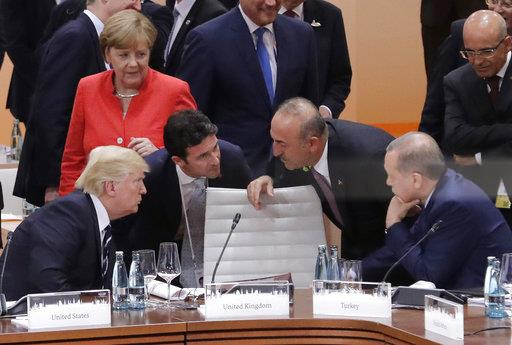APTOPIX Trump Germany G20