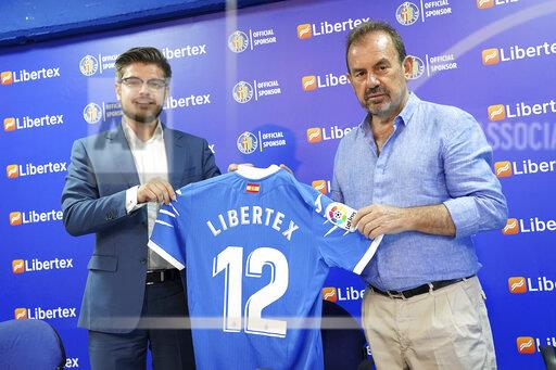 Spain: Getafe CF's new sponsor Libertex.