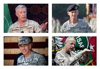 US Afghanistan Commanders