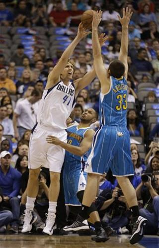 Dirk Nowitzki, Eric Gordon, Ryan Anderson