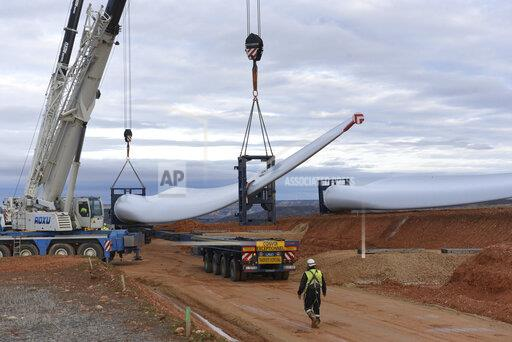 New Wind Farm in Madrid, Spain - 05 Dec 2019