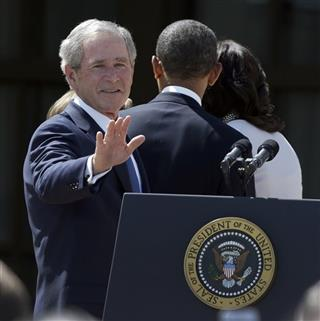 George W. Bush, Barack Obama, Michelle Obama