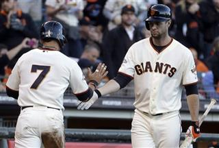 Gregor Blanco, Brandon Belt