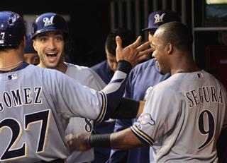 Ryan Braun, Carlos Gomez, Jean Segura