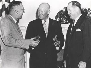 Dwight Eisenhower,  T. Keith Glennan, Hugh L. Dryden