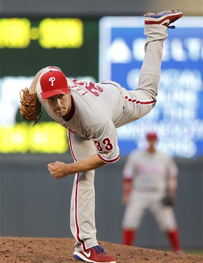 Phils End 5-Game Skid, 3-2 over Twins